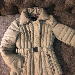 Guess belted puffer jacket Tan Small